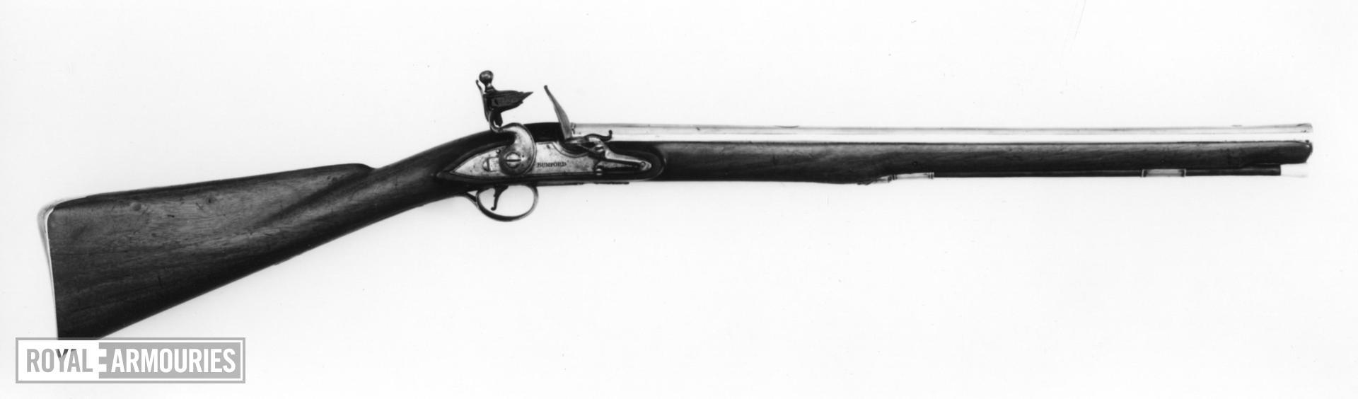 Flintlock muzzle-loading carbine - By Bumford