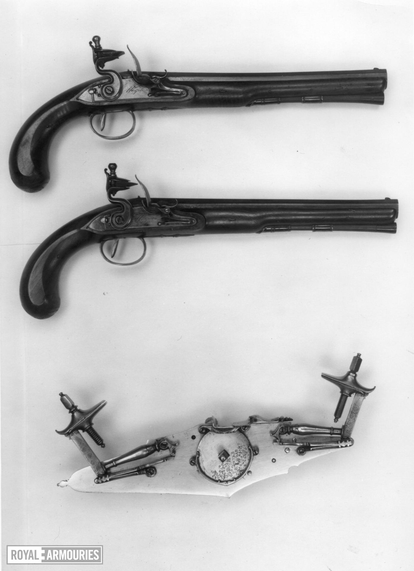 Flintlock duelling pistol By Wogdon One of a pair see XII.1369 A. For case, see XII.1369 C