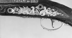 Thumbnail image of Flintlock holster pistol By S. Brunn One of a pair; see XII.1656