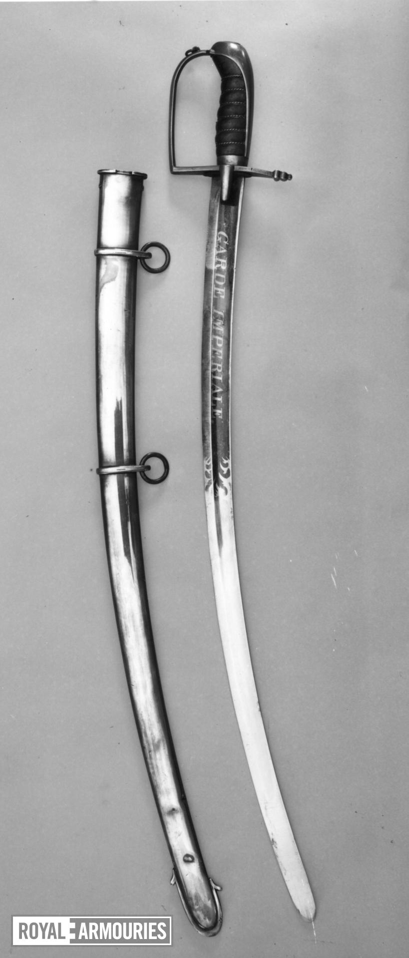 Sabre and scabbard Boy's sabre (A) and scabbard (B), Roi de Rome French.