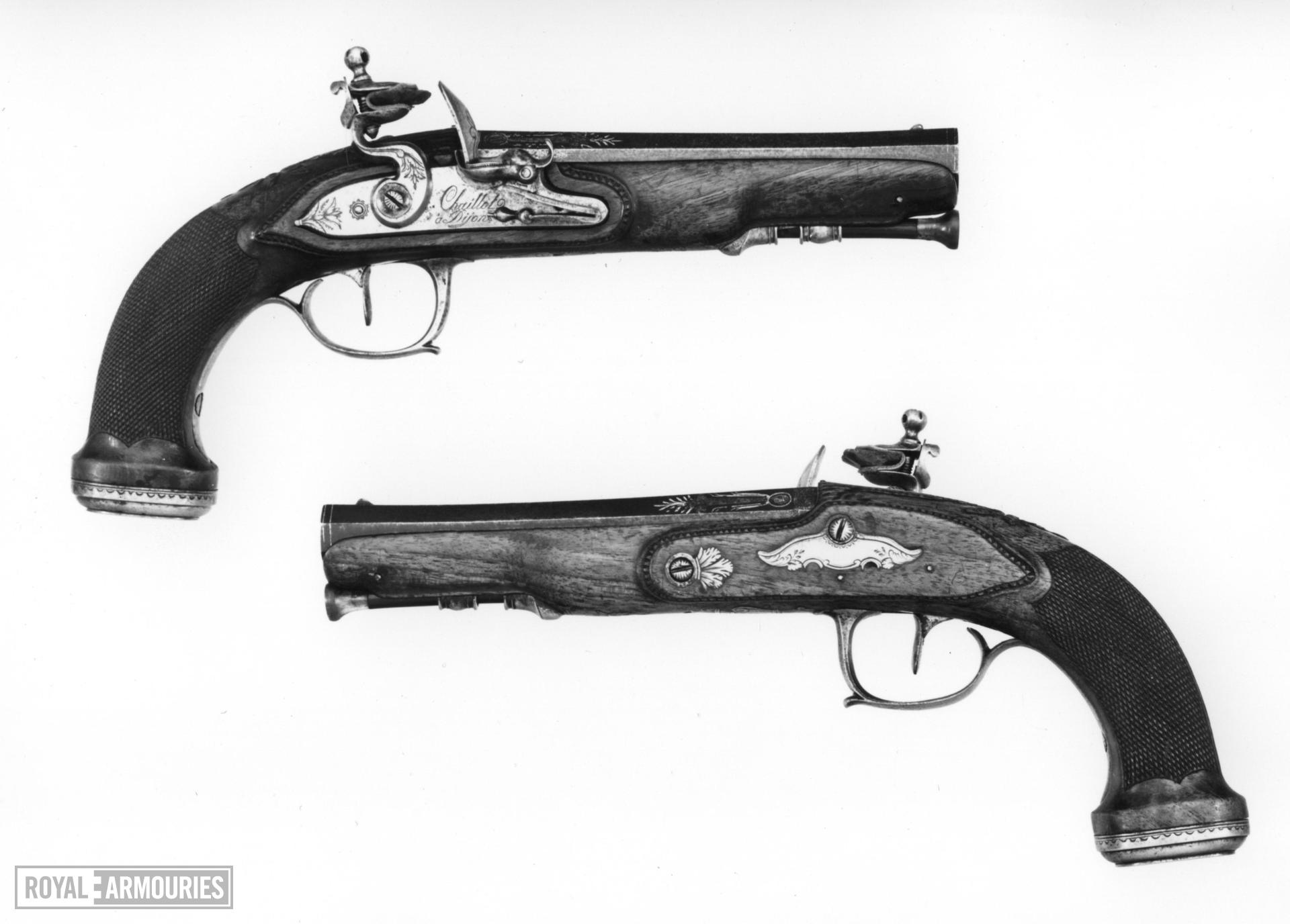 Flintlock pistol Barrel by Nicholas Le Clerc Lock by Chaillot a Dijon One of a pair; see XII.1317