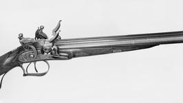 Thumbnail image of Flintlock double-barrelled gun - By Alexander Wilson