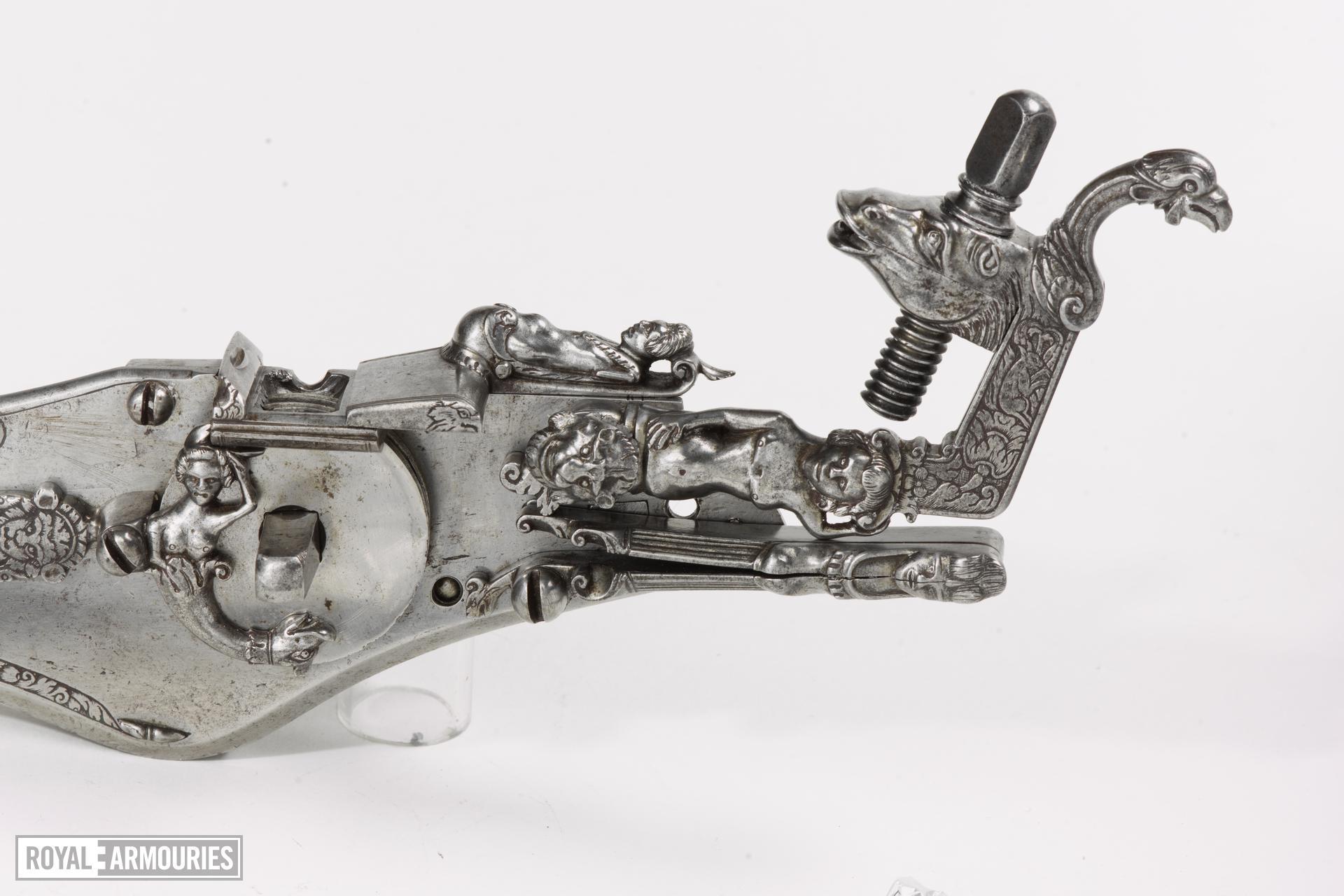Parts of a wheellock gun See under suffixes