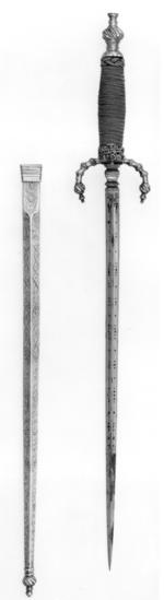 Thumbnail image of Dagger and sheath 'Schiavona' dagger and sheath