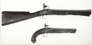 Thumbnail image of Flintlock muzzle-loading blunderbuss - By J. Harding and Son For Her Majesty's Mail Coaches