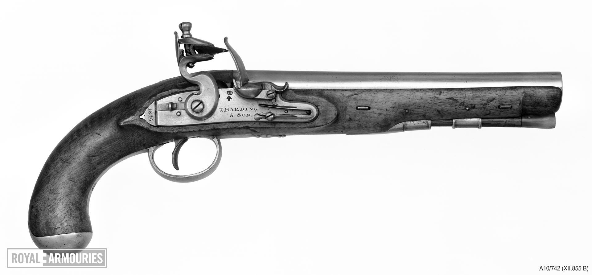 Flintlock pistol By J. Harding & Son For His Majesty's Mail Coaches