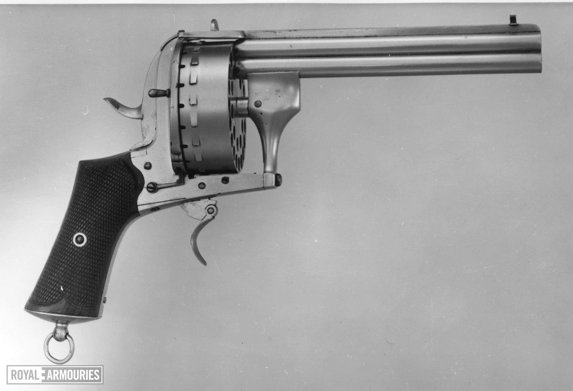 Pinfire thirty-shot double-barrelled revolver - Lefeuchaux type