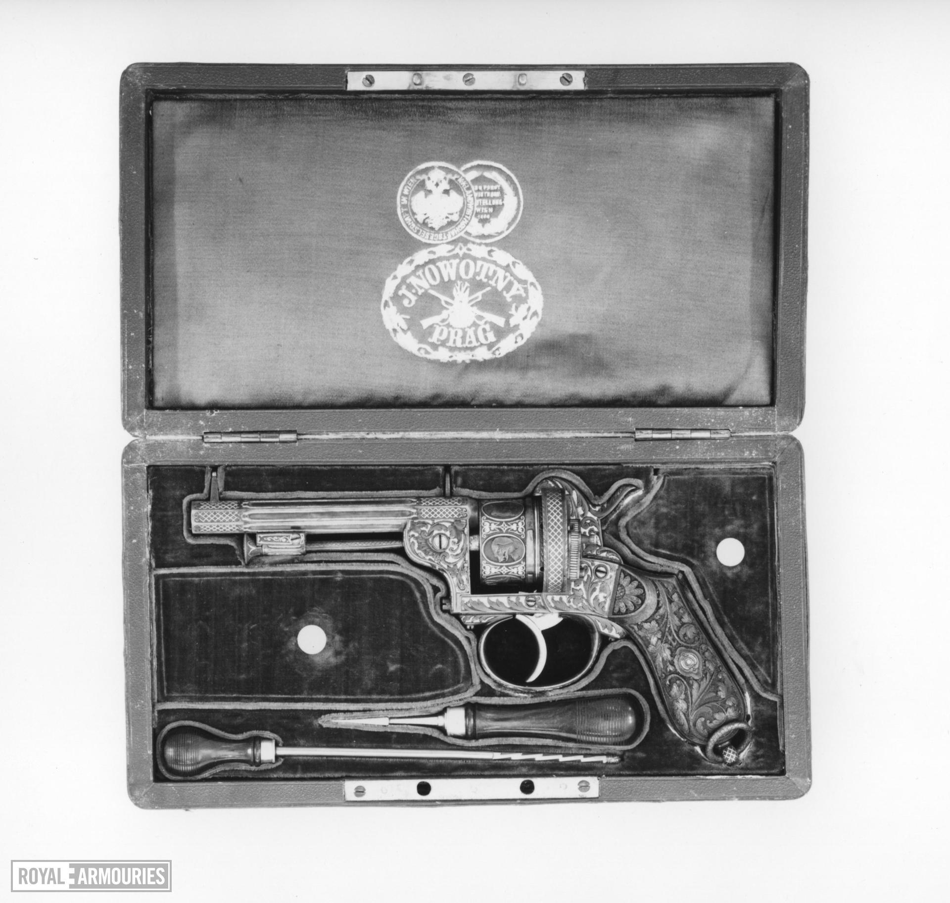 Pinfire six-shot revolver - Johann Novotny