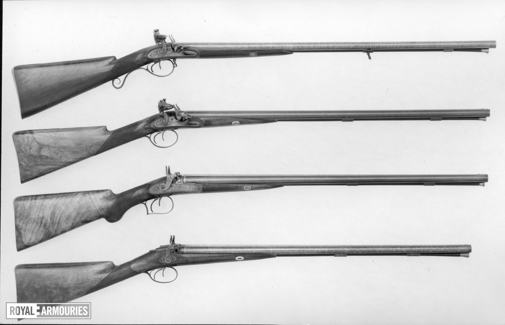 Flintlock double-barrelled shotgun - By Ezekiel Baker For Frederick Augustus, Duke of York and Albany, second son of George III, 1763-1827