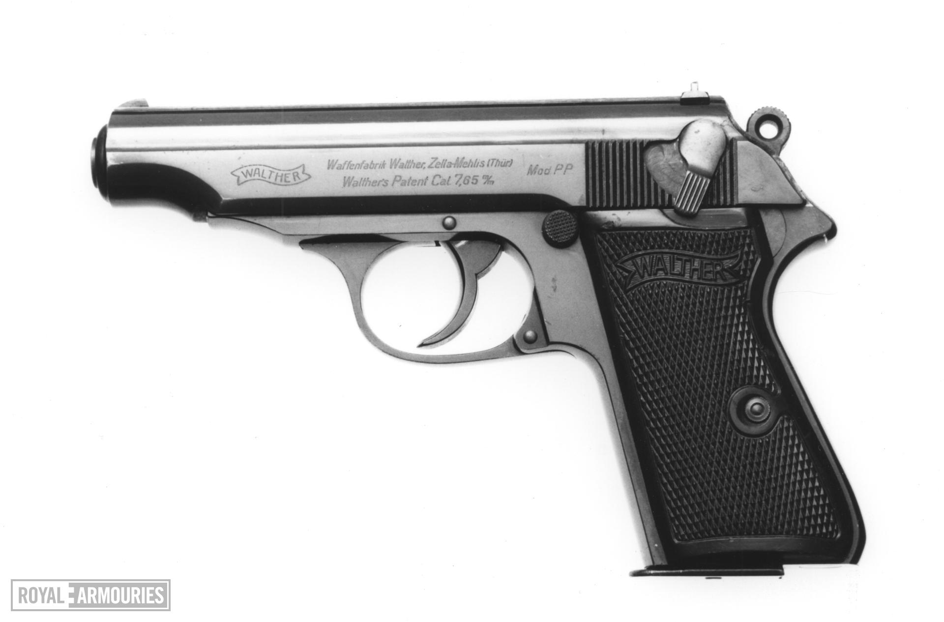 Centrefire self-loading pistol - Walther Model PP