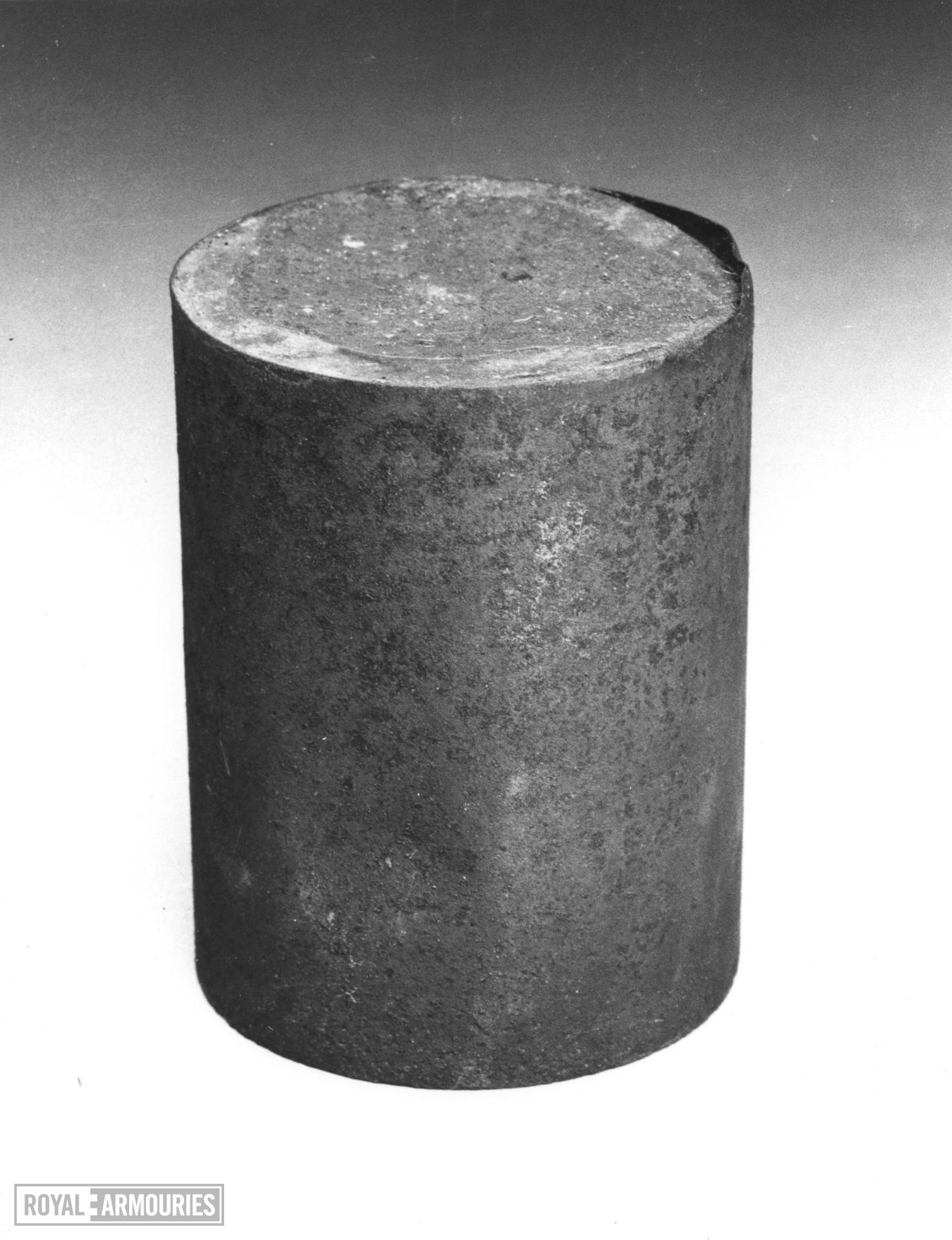 Canister of patched rifle balls