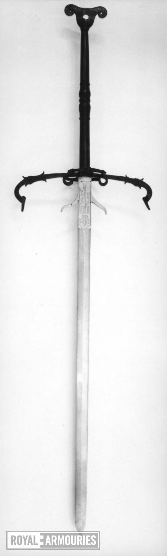 Sword Two-hand sword of the State Guard of the Duke of Brunswick