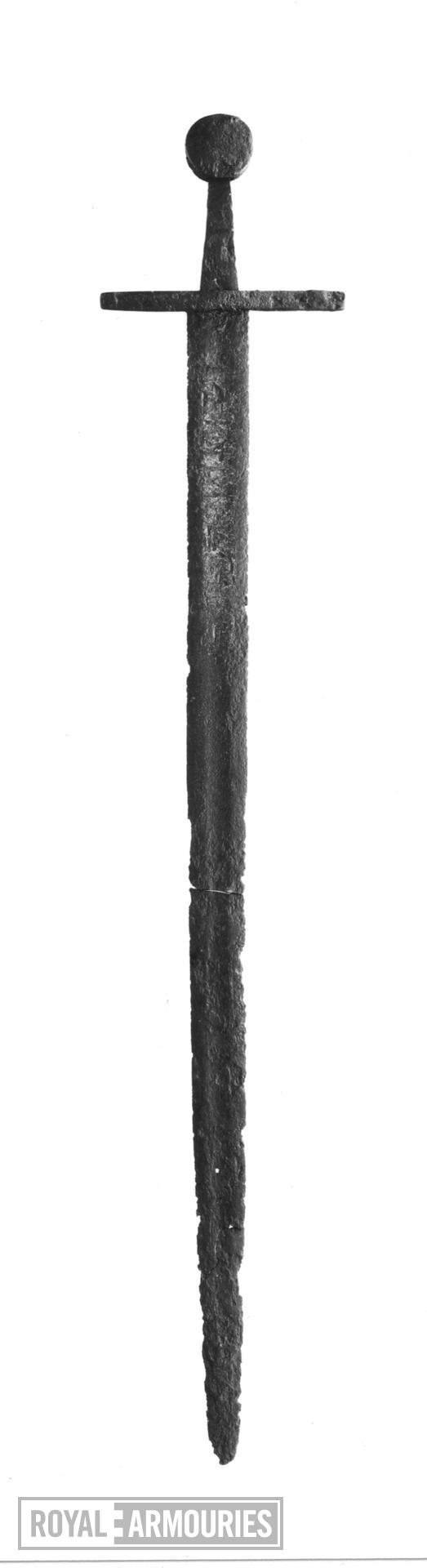 Sword Sword, wth possible '+ INME FECIT +' inscription.