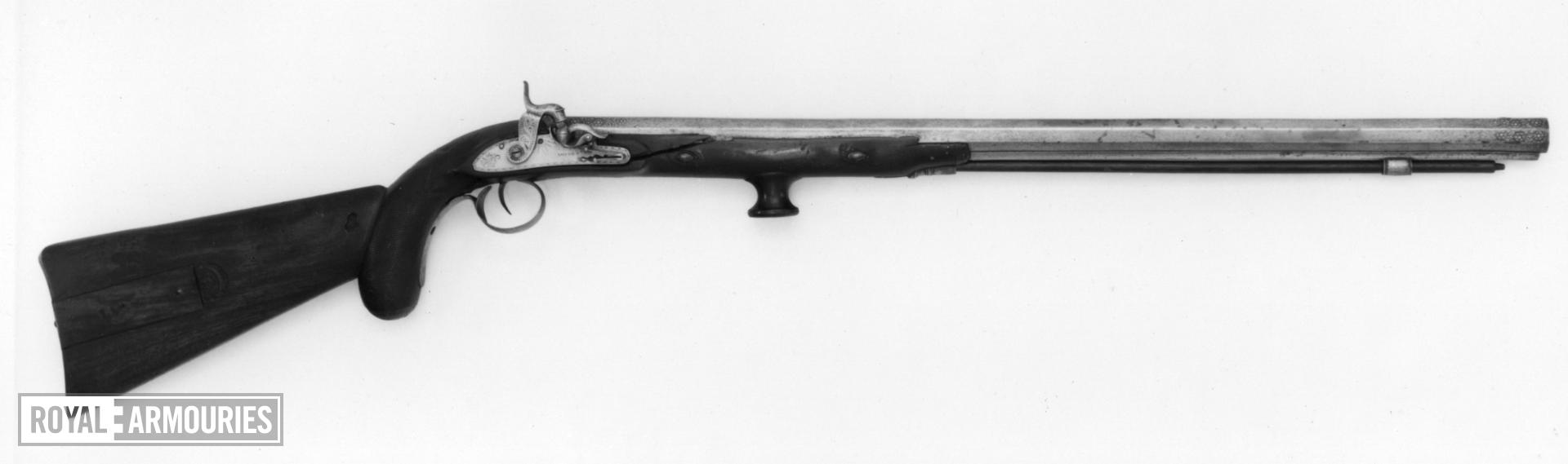 Percussion rifle converted from a flintlock.