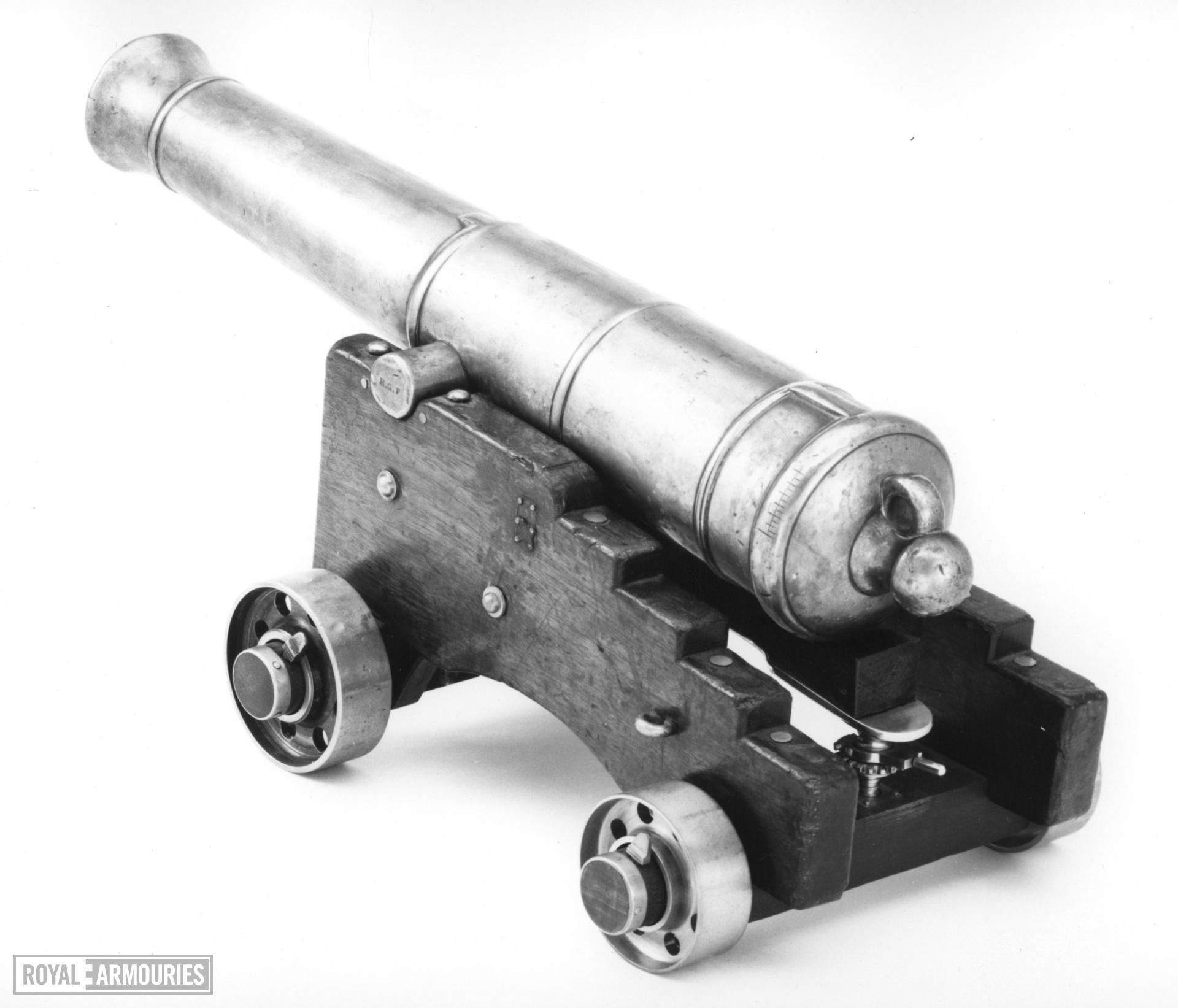 Model Gun and Carriage - Blomefield Pattern