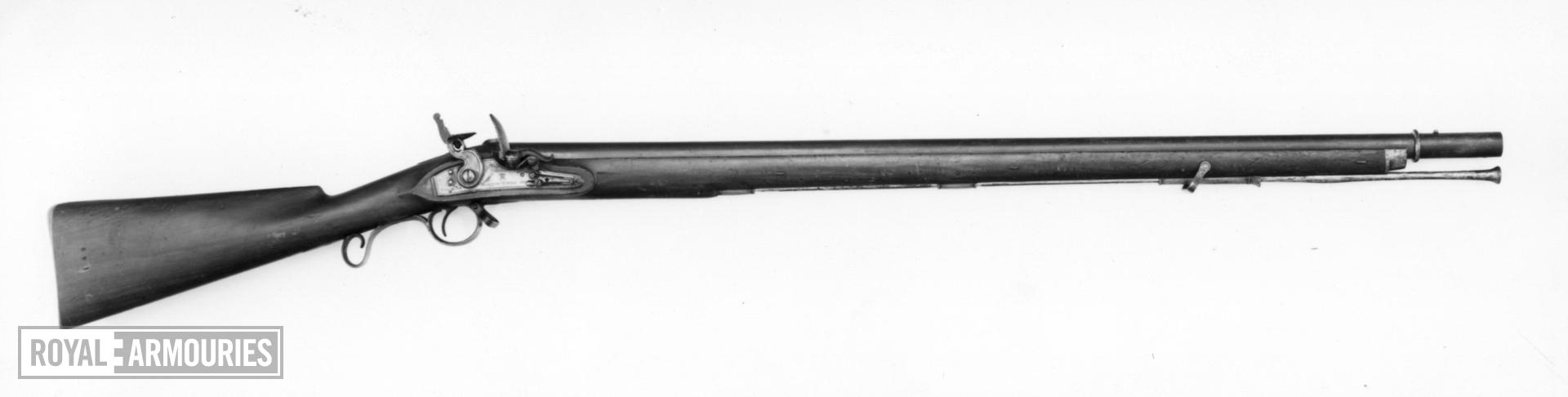 Flintlock muzzle-loading military musket - By B. Parsons