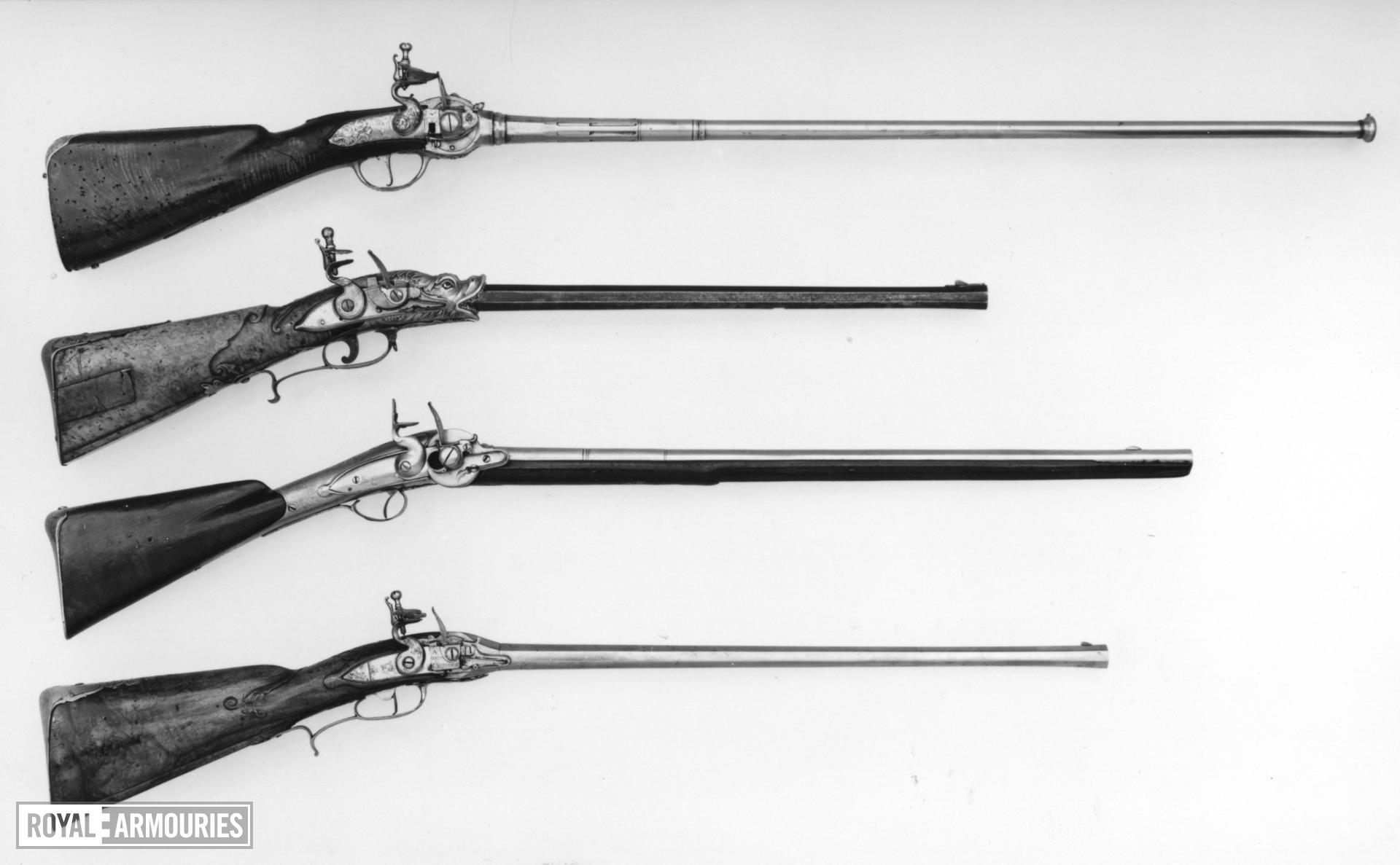 Flintlock breech-loading rifle - By C. Nuterisch
