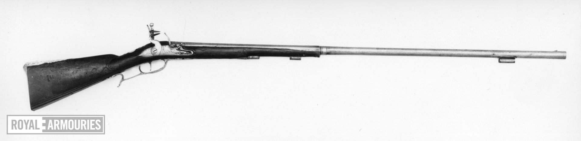 Flintlock muzzle-loading rifle