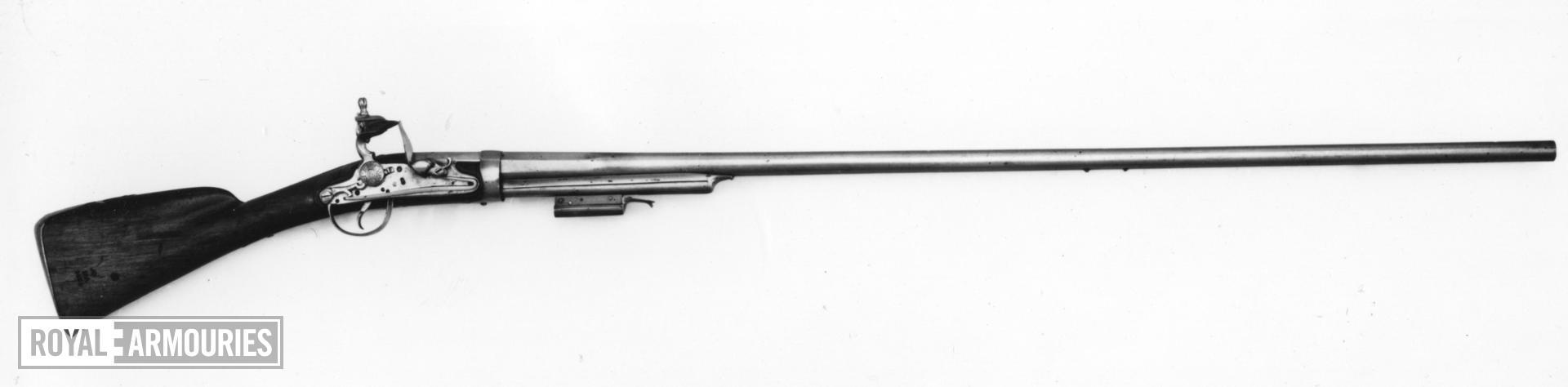 Flintlock breech-loading military musket - Berthier Pattern Experimental