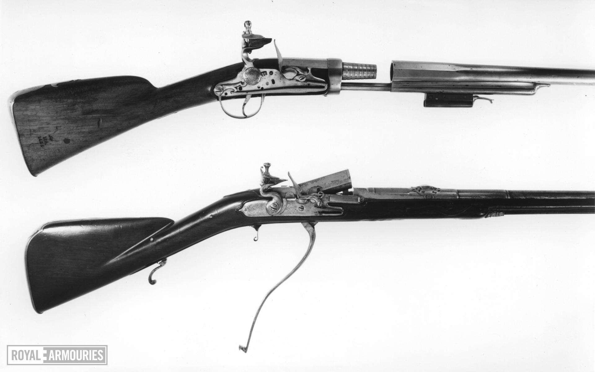 Flintlock breech-loading military musket - Berthier Pattern