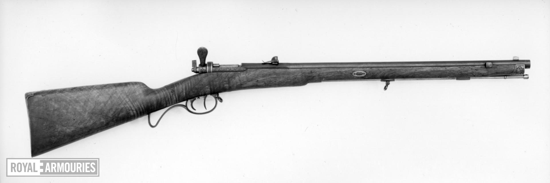 Needlefire bolt-action rifle