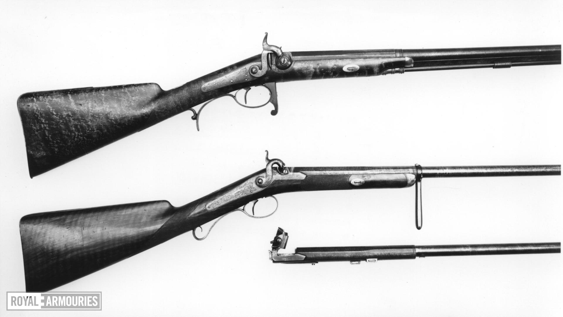 Percussion breech-loading rifle - By Williams and Powell