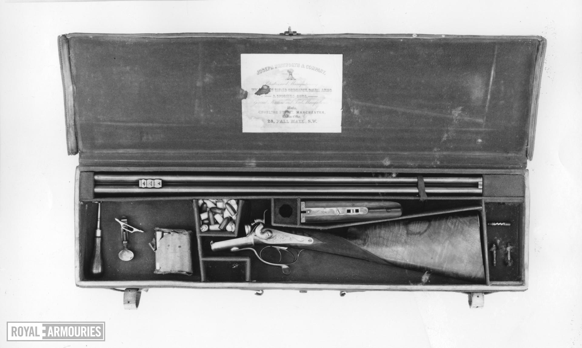 Percussion breech-loading sporting rifle - By Whitworth