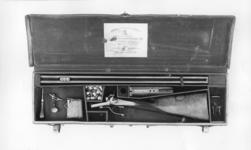 Thumbnail image of Percussion breech-loading sporting rifle - By Whitworth Cased