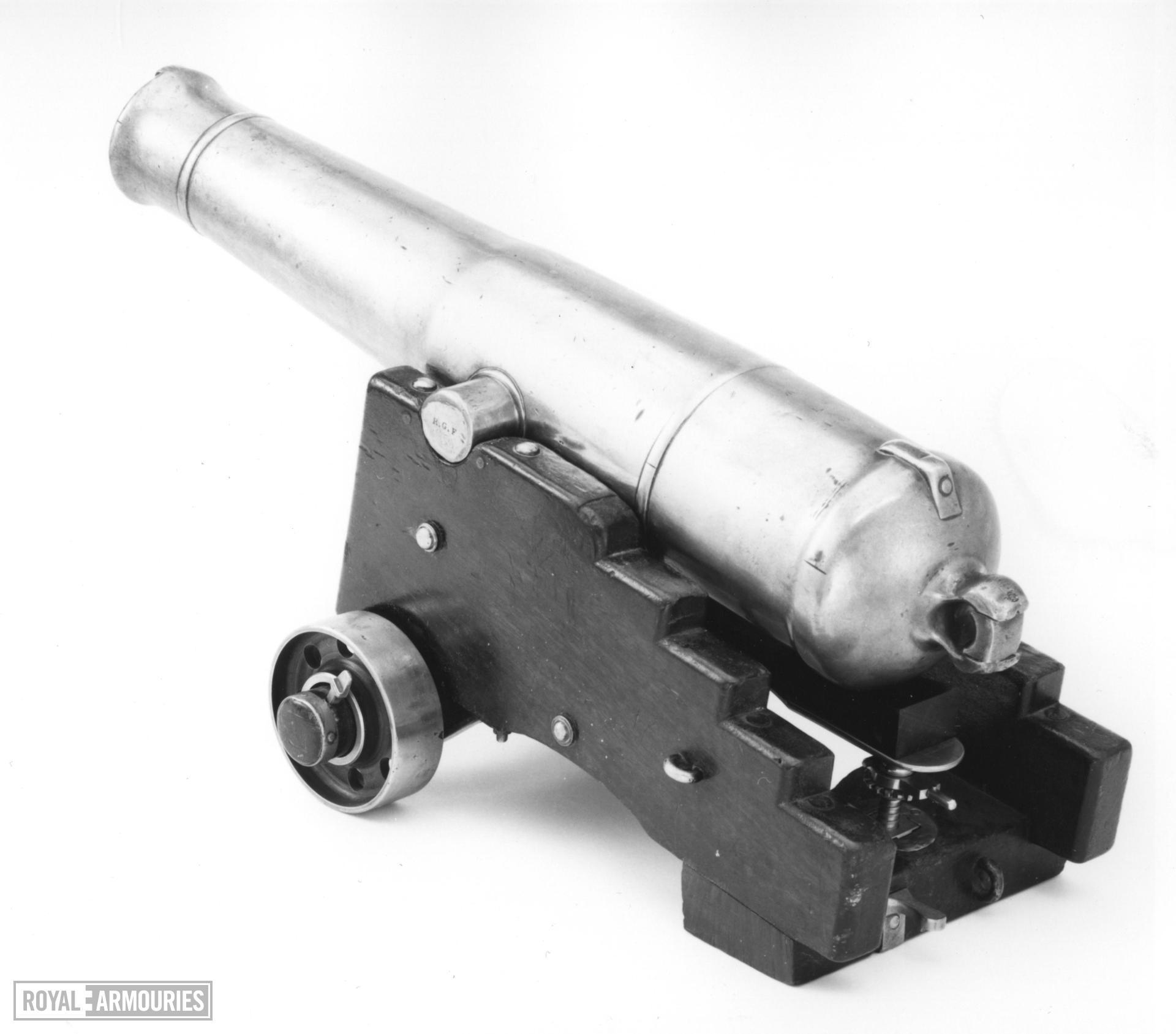 Model gun and carriage - Millar pattern