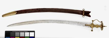 Thumbnail image of Sword (talwar) and scabbard possibly for one of the Nizams of Hyderabad.