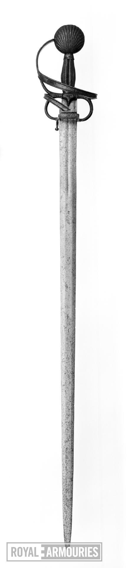 Sword Sword with early form of rapier hilt