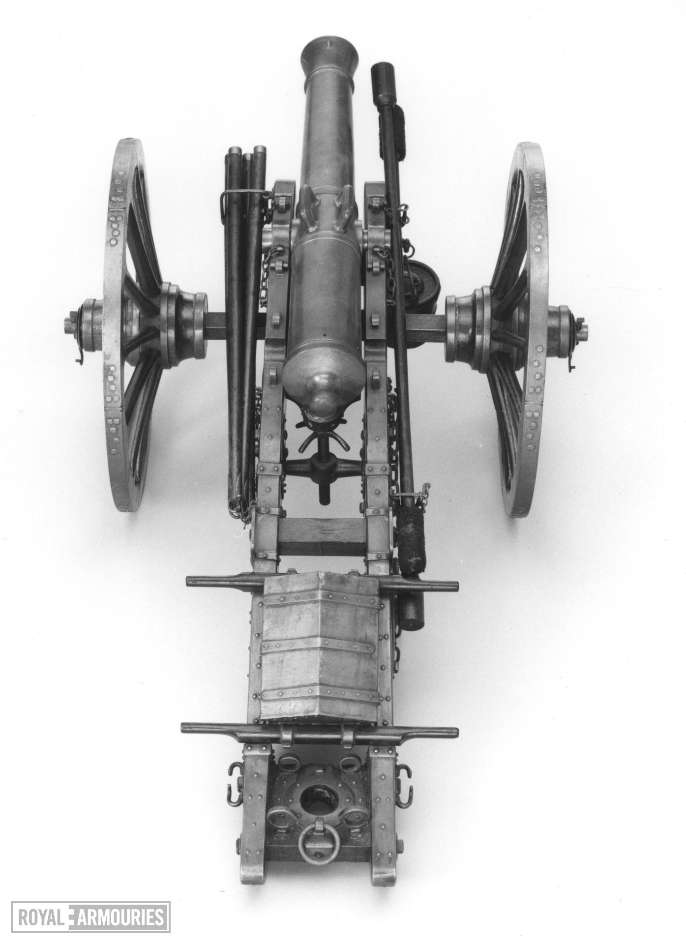 Model gun and limber - Gribeauval system