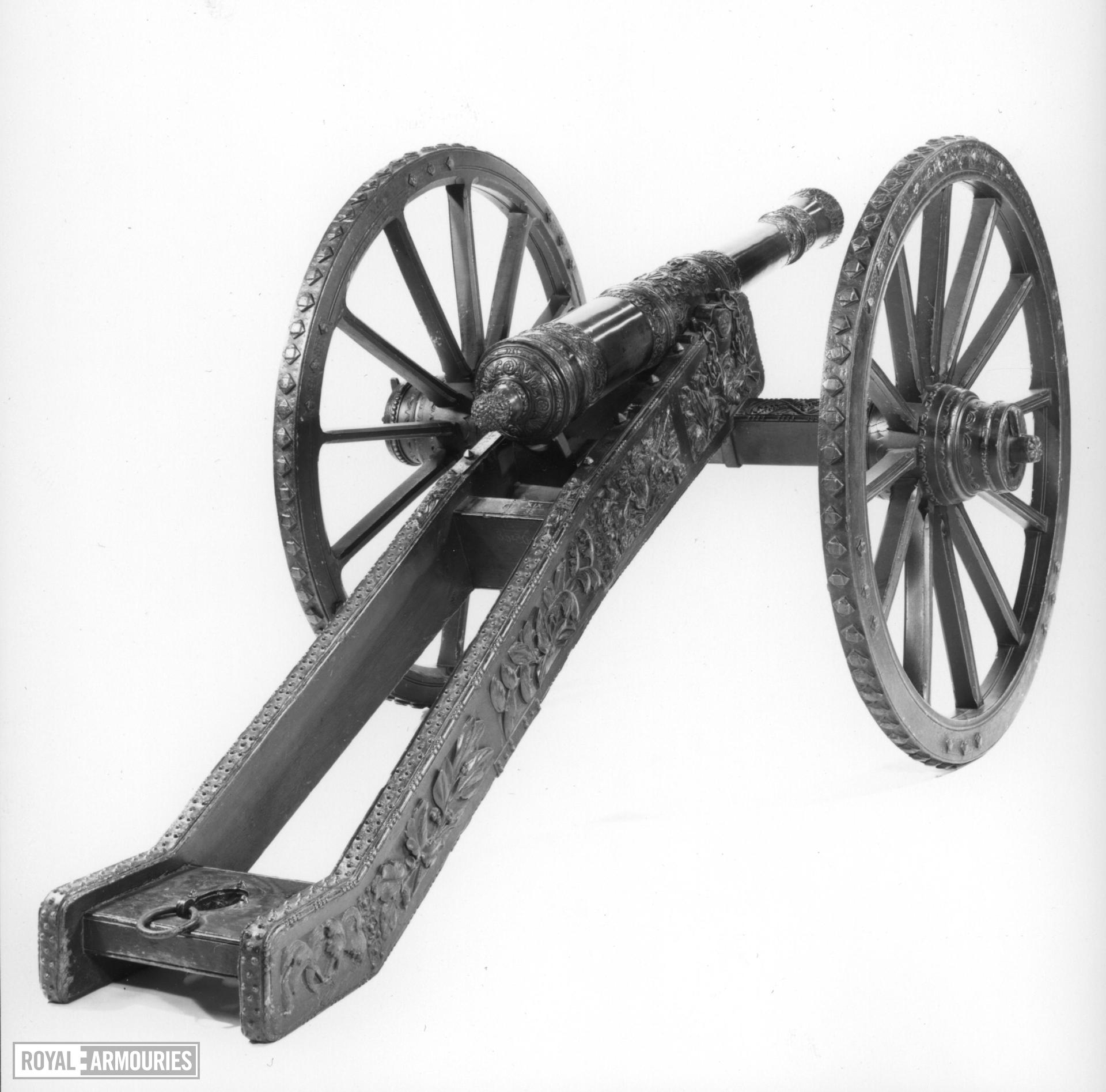 2.3 in gun and carriage