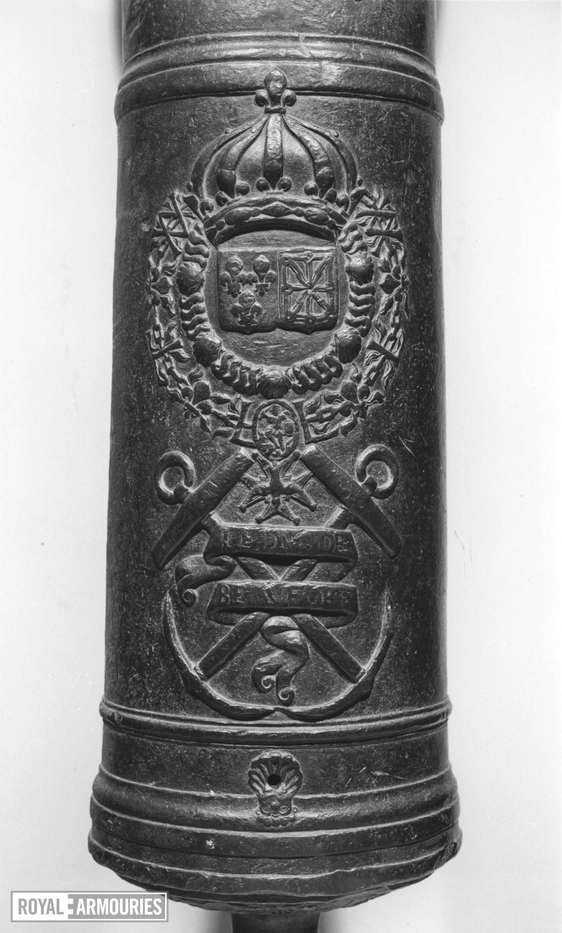18 pr gun Made of bronze Cast for LE DUC DE BEAUFORT