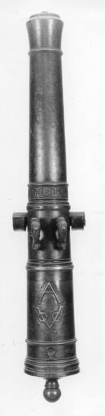 Thumbnail image of 3 pr gun Made of bronze Cast by Claude Fremy