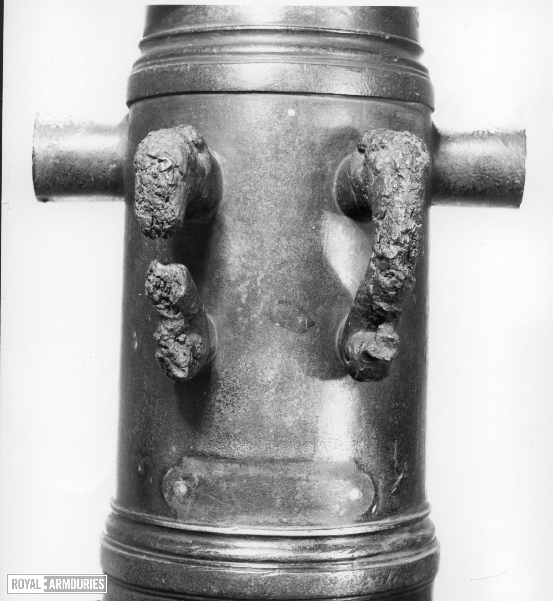 12 pr gun Made of bronze Cast by Adrian Crans