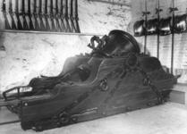 Thumbnail image of 18.5 in mortar and bed Made of bronze Cast by Henry Quintyn of Snodland With restored bed