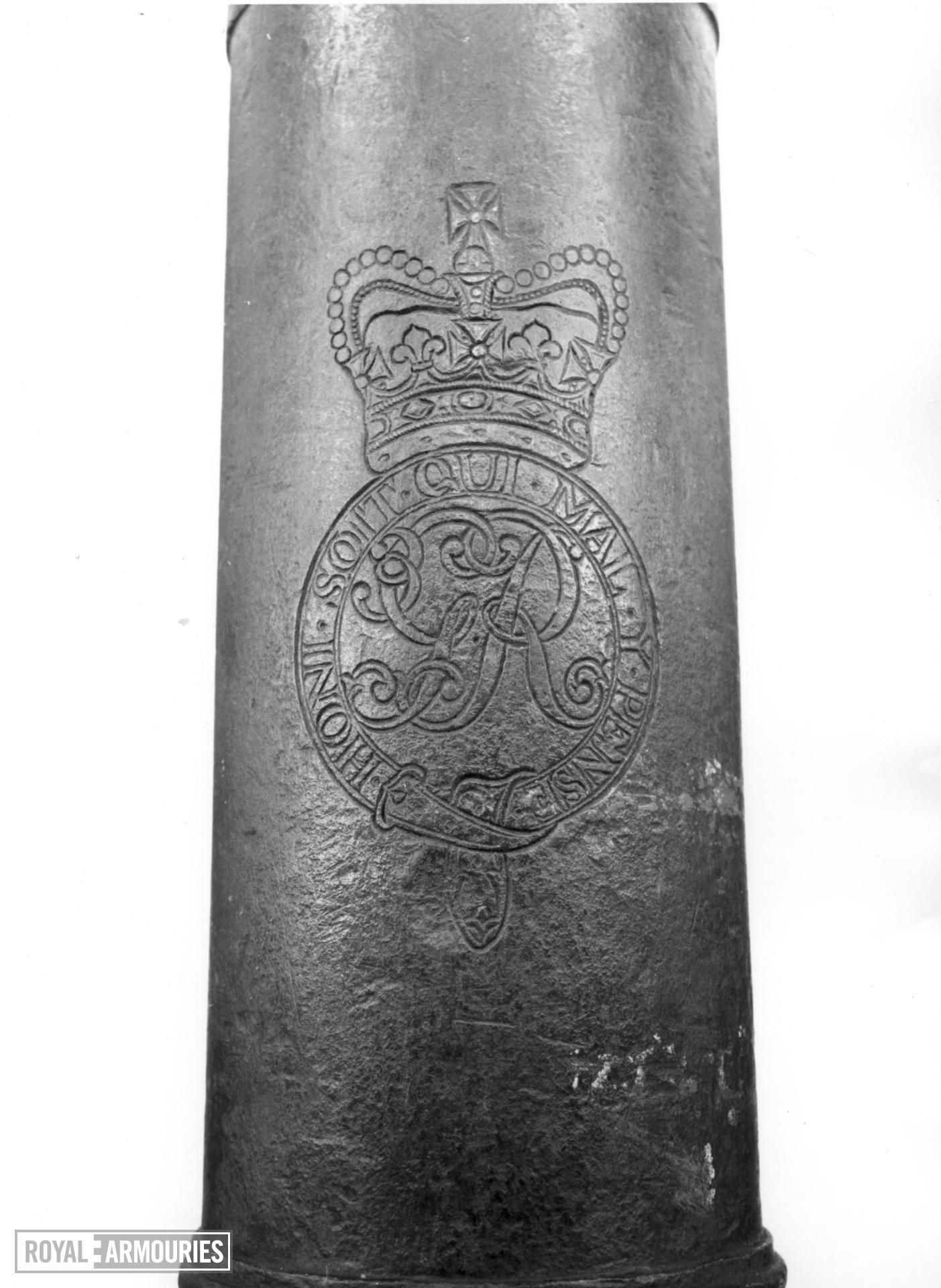 1 pr gun Made of bronze Cast by I & H King
