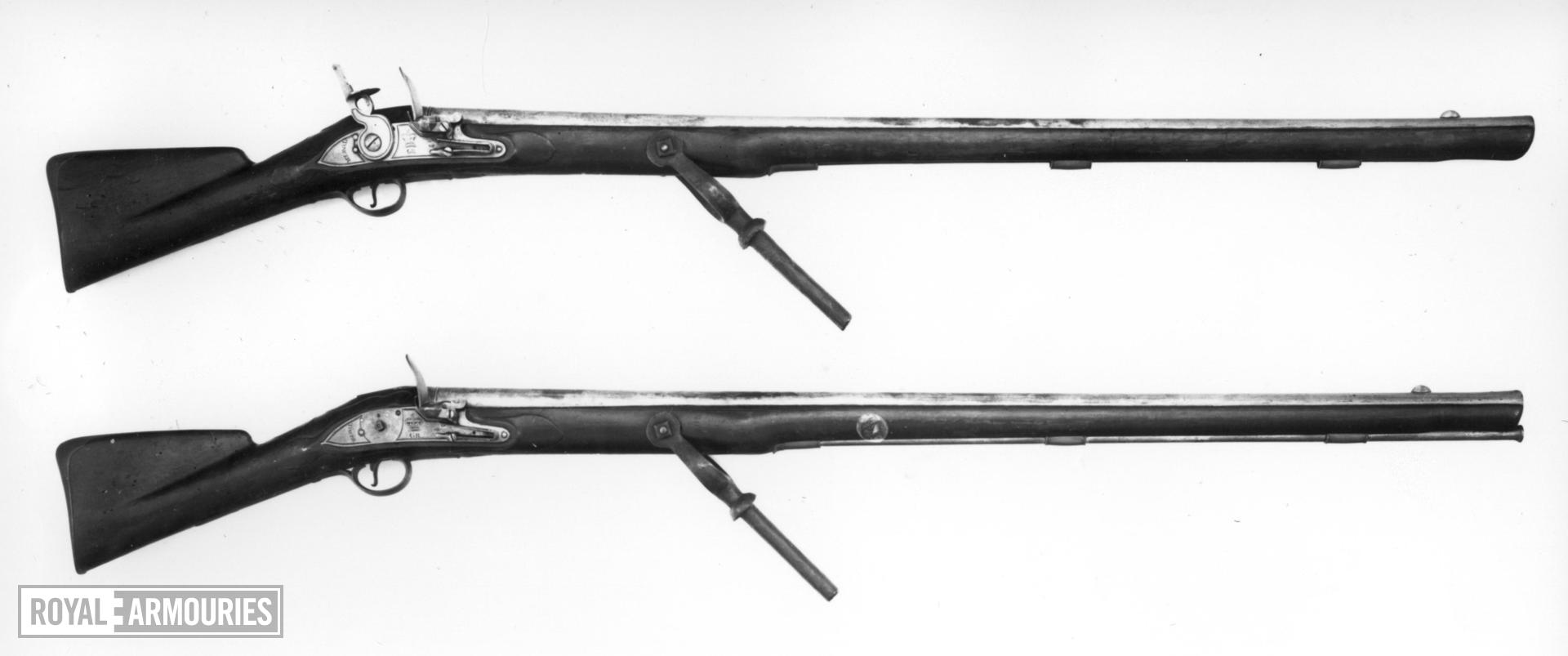 Flintlock military wall gun