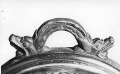 Thumbnail image of 13 in mortar and bed Made of bronze Cast by Keller Bed English, mid 18th century