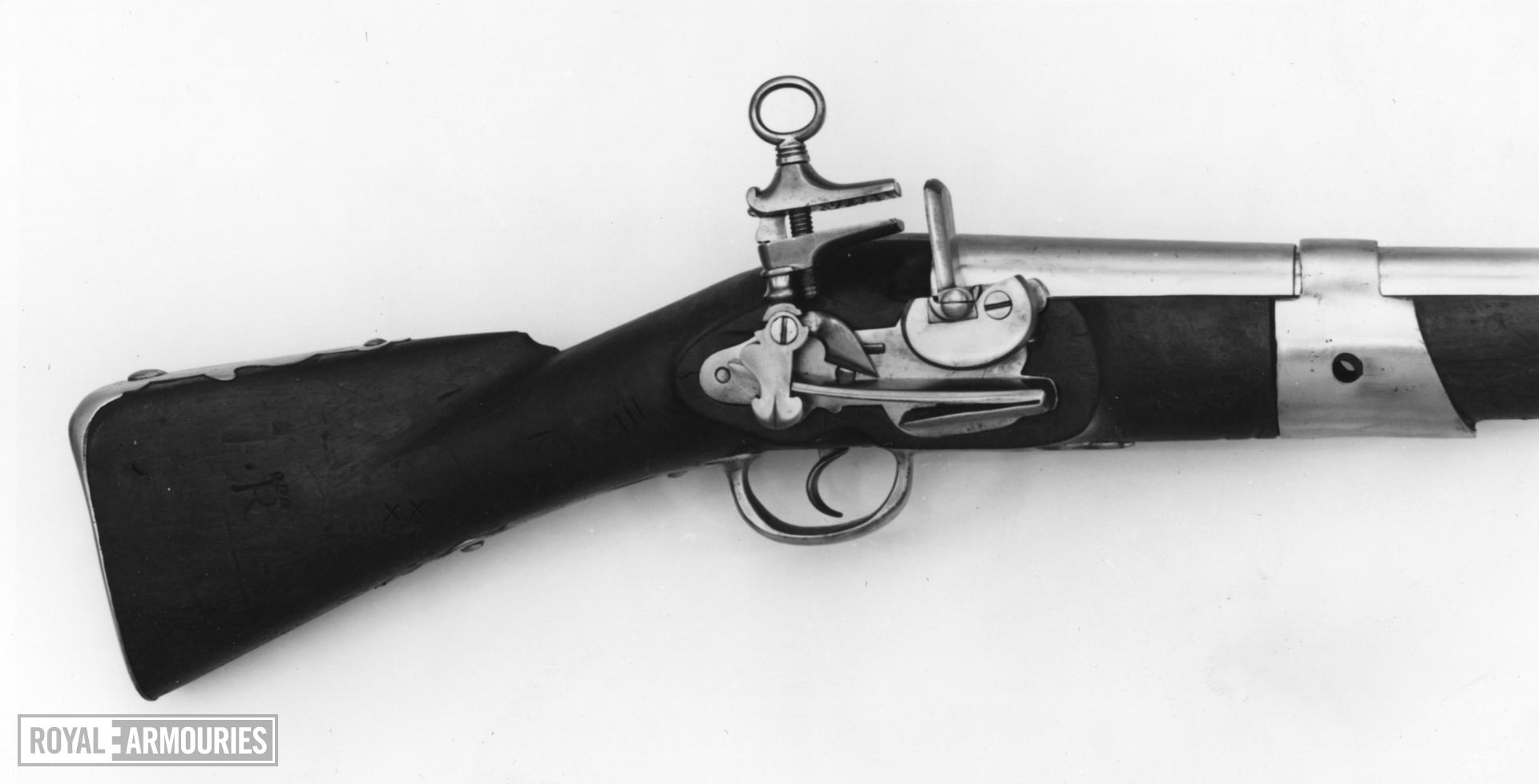 Flintlock muzzle-loading musketoon