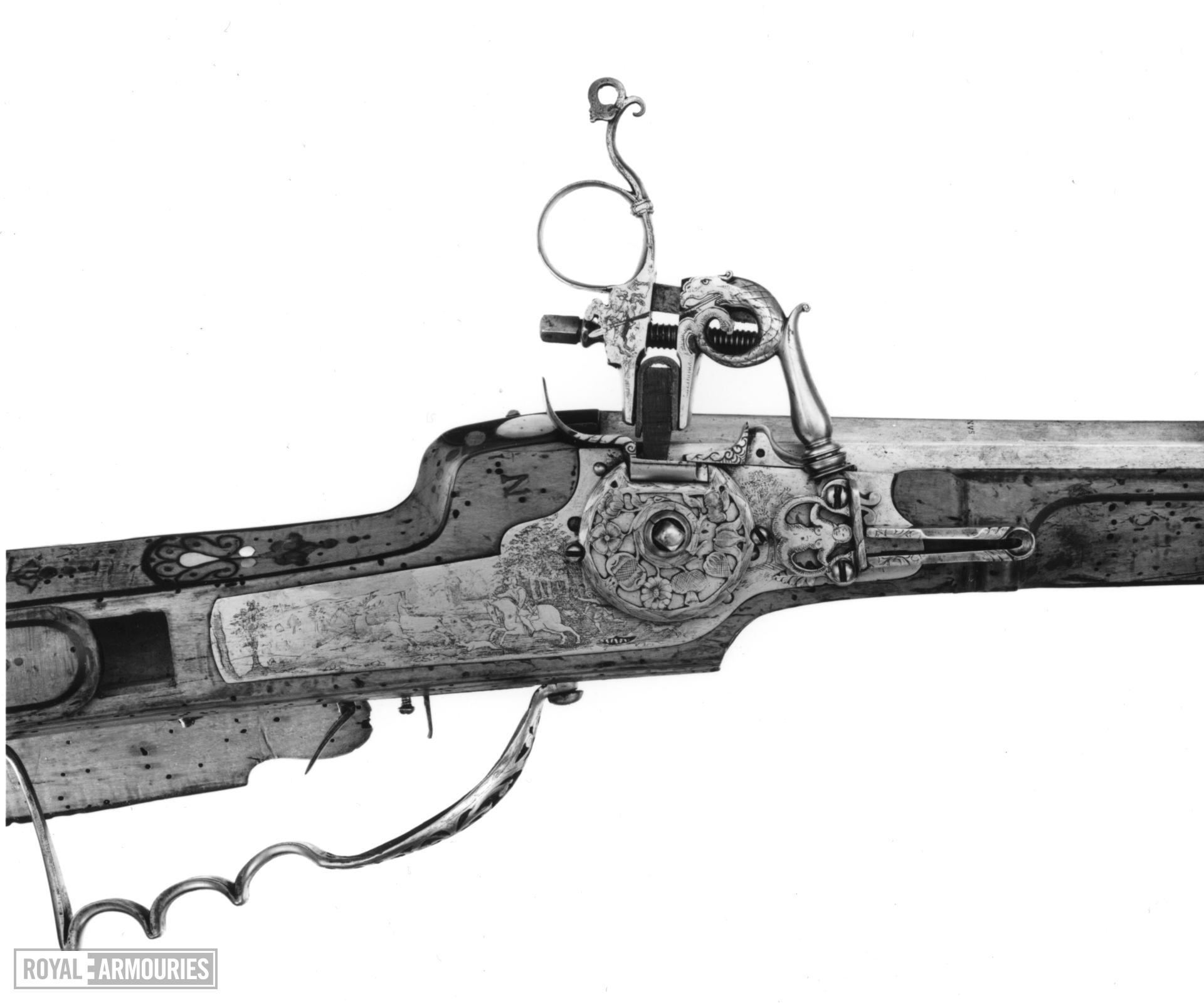 Wheellock muzzle-loading sporting rifle - By Augustinus Kotter