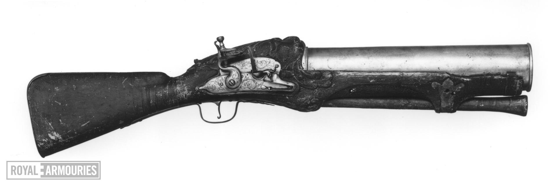 Flintlock firework gun - By James Ermendinger One of a pair see XII.3913