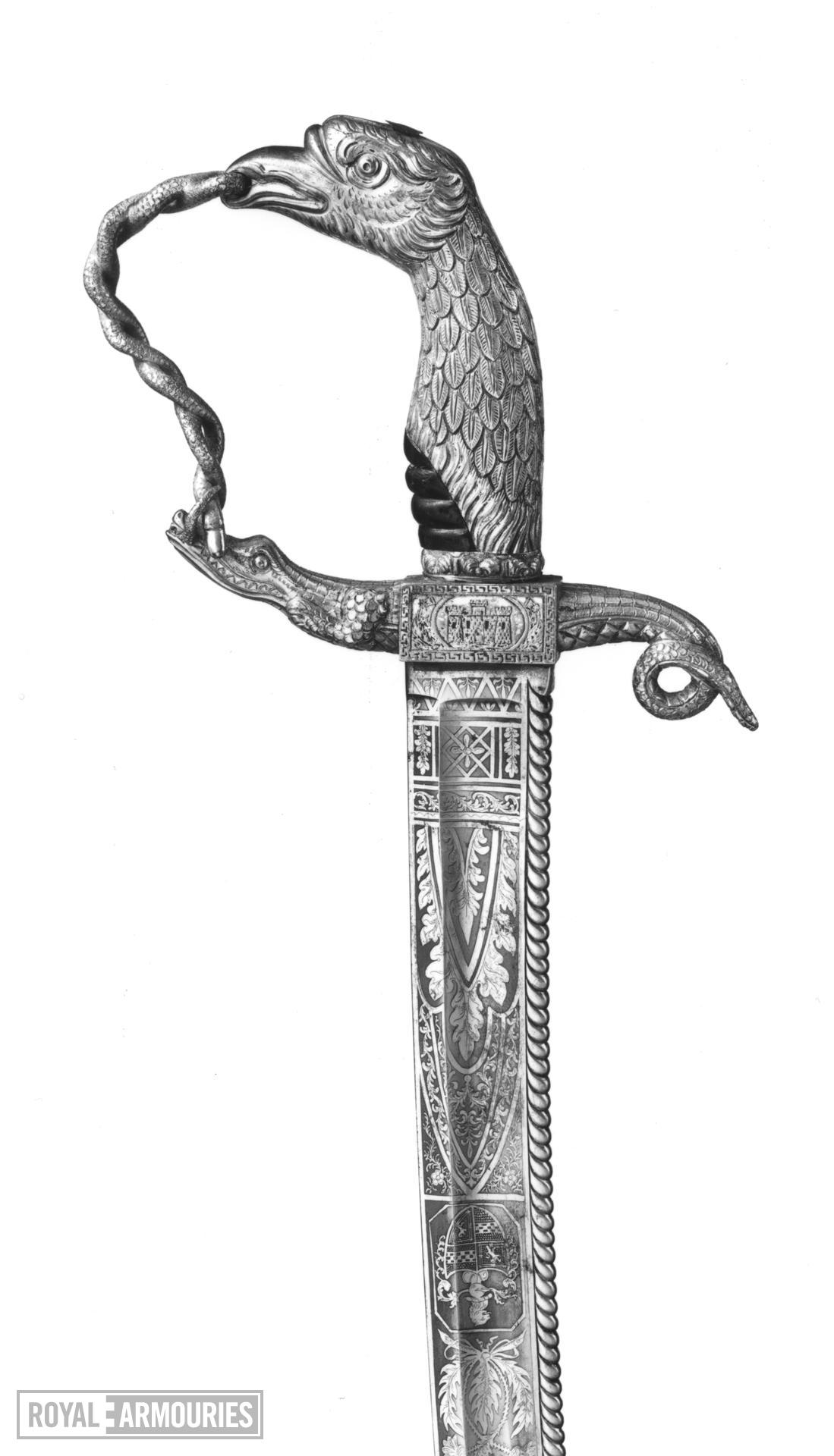 Sabre and scabbard