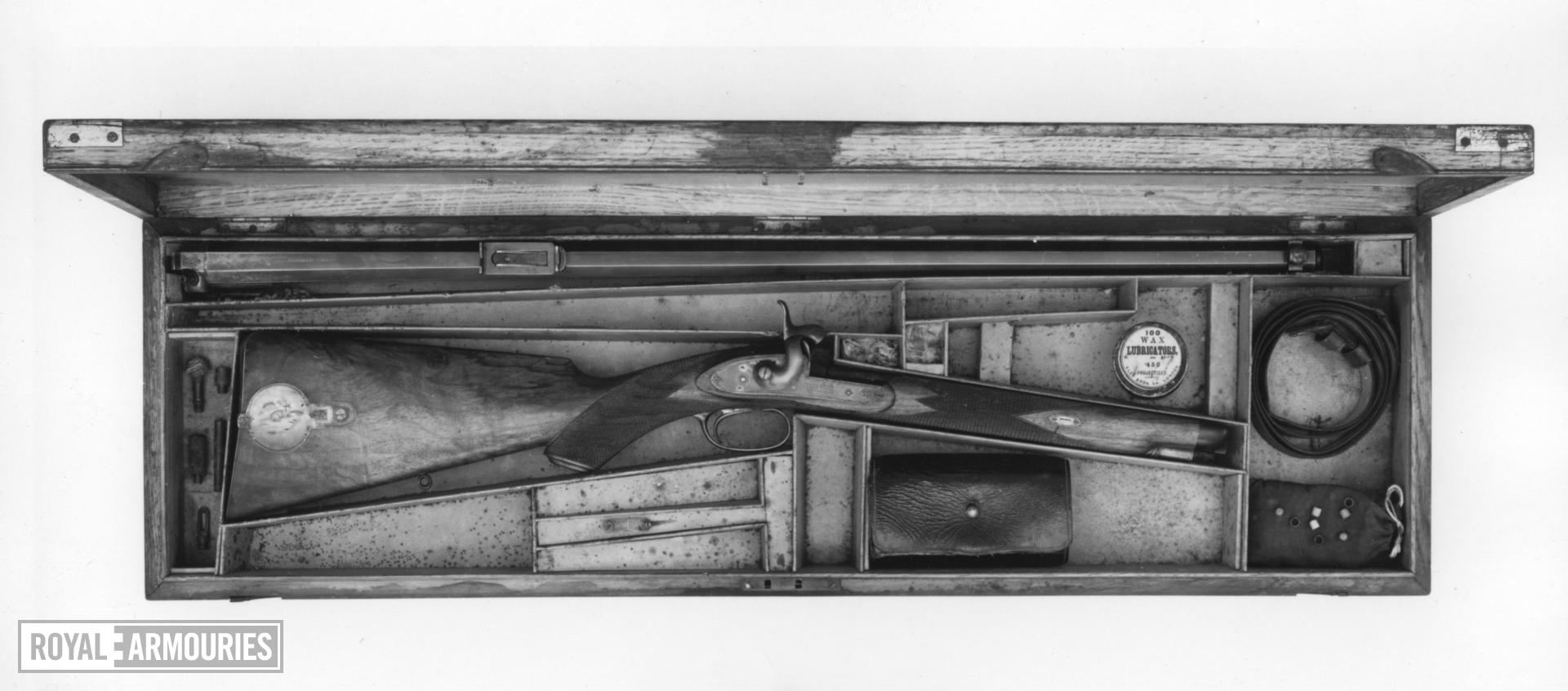 Percussion rifle By T. Turner