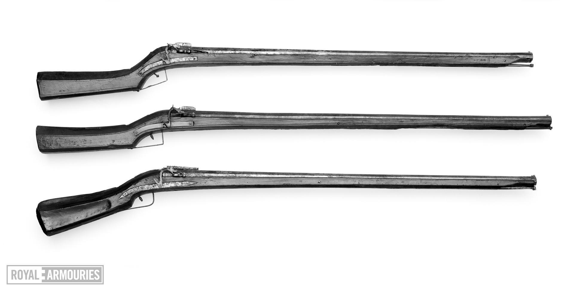 Matchlock muzzle-loading musket From Gardone in Brescia
