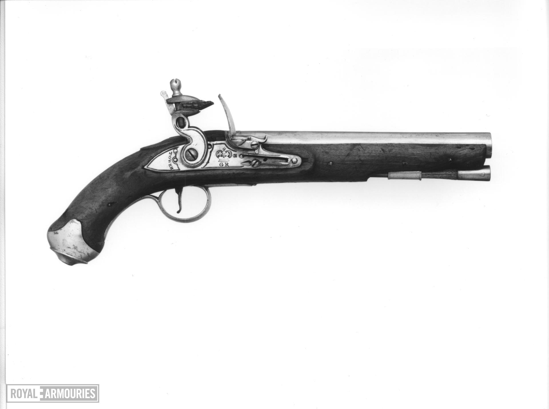 Flintlock military pistol - Light Cavalry Model