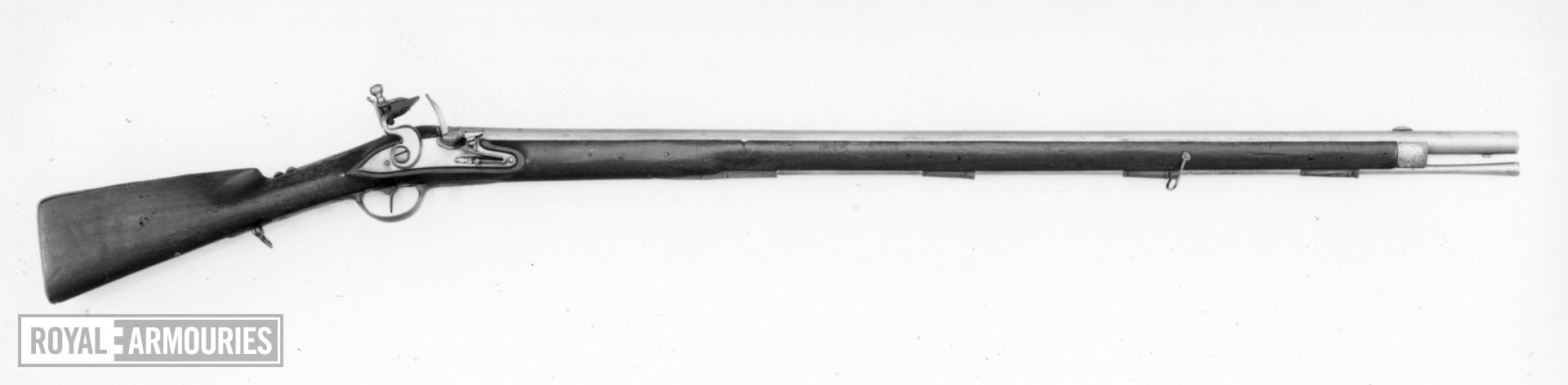 Flintlock muzzle-loading military musket - Hessian model, sealed pattern