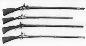 Thumbnail image of Flintlock muzzle-loading musket - Light Infantry and Constabulary Model