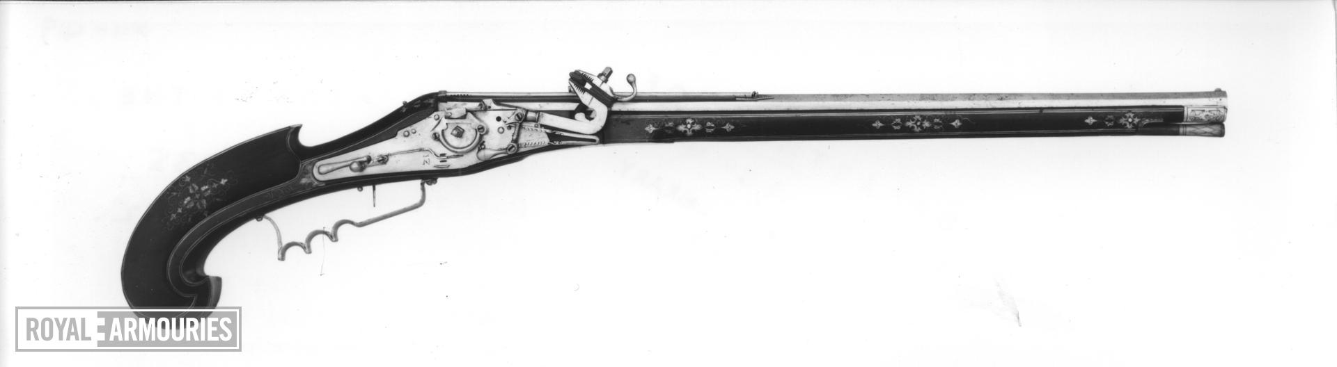 Wheellock superimposed musket For superimposed charges, 8 charges